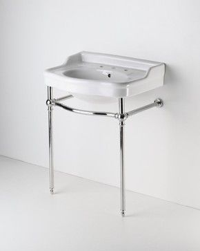 two leg single washstand - traditional - bathroom vanities and