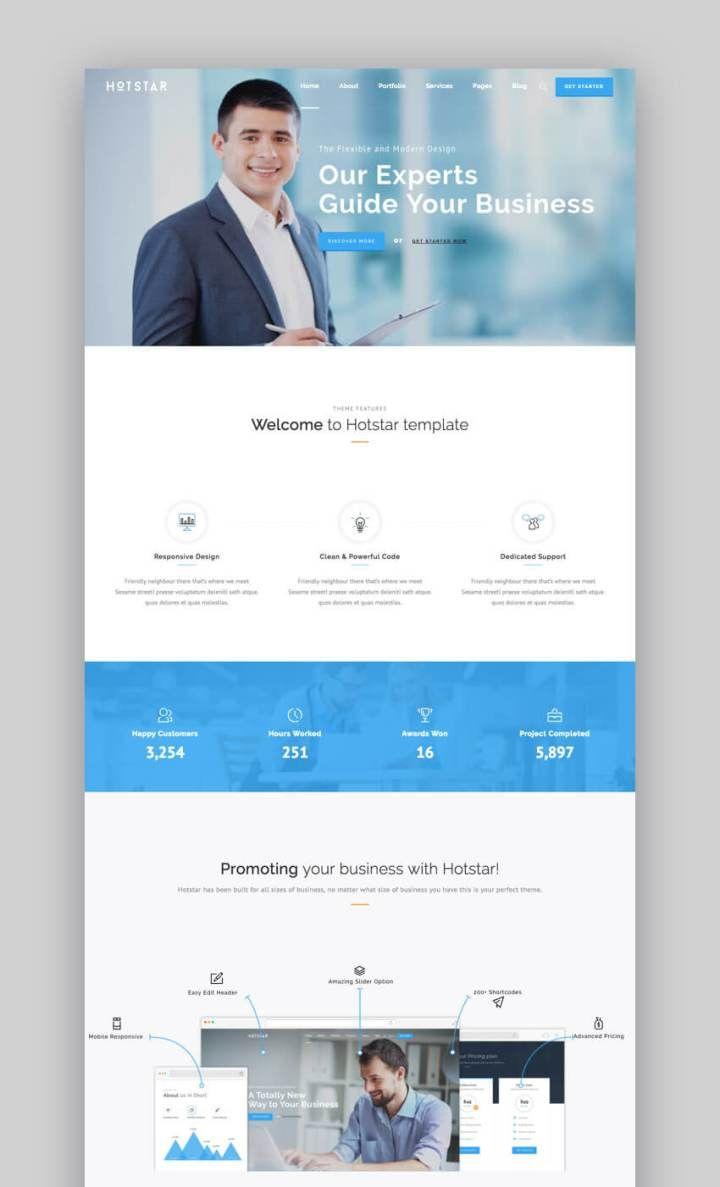 Hotstar multipurpose business wordpress theme by