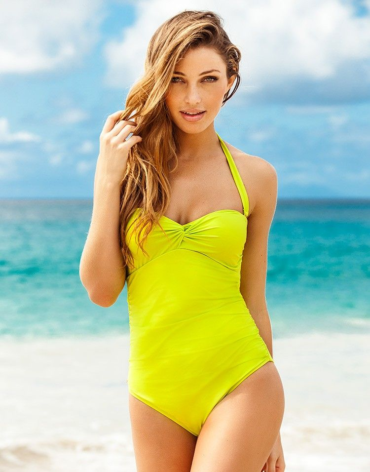 d962e899f75 bright yellow one-piece / adore me | WEAR | Swimwear, Fashion, Adore ...