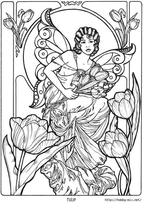 Tulip Fairy Fae Fantasy Myth Mythical Mystical Legend Elf