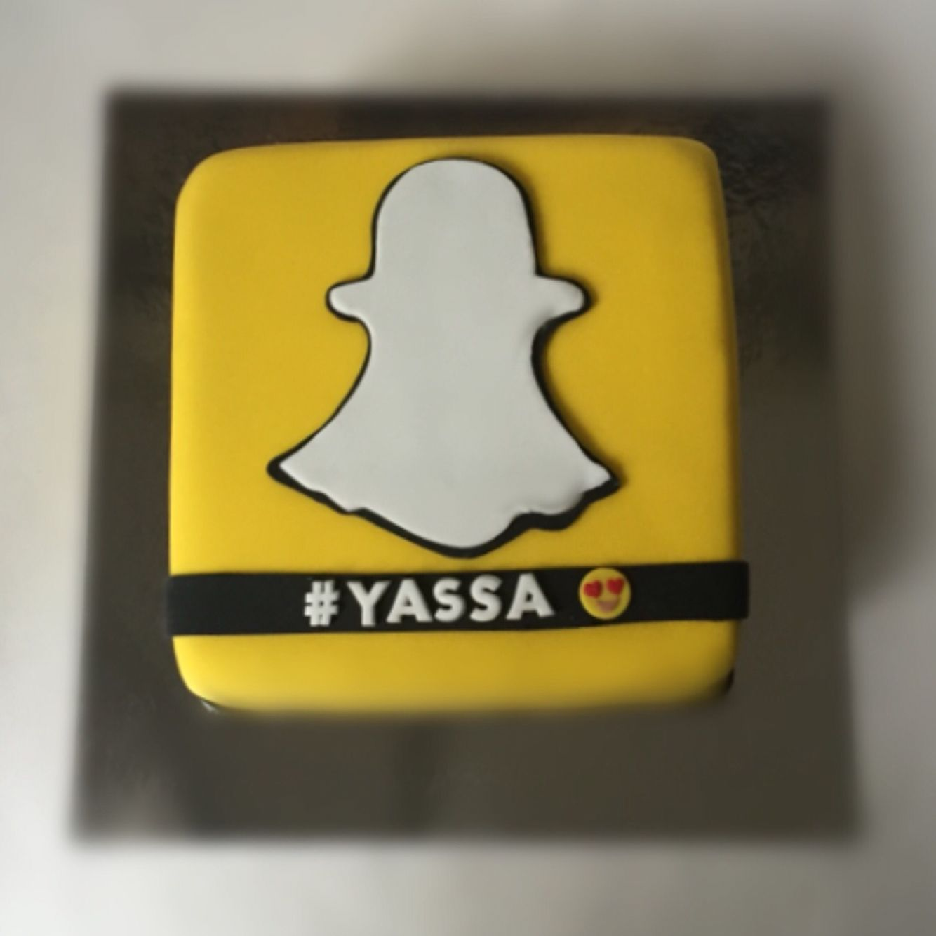Snap Chat Birthday Cake !