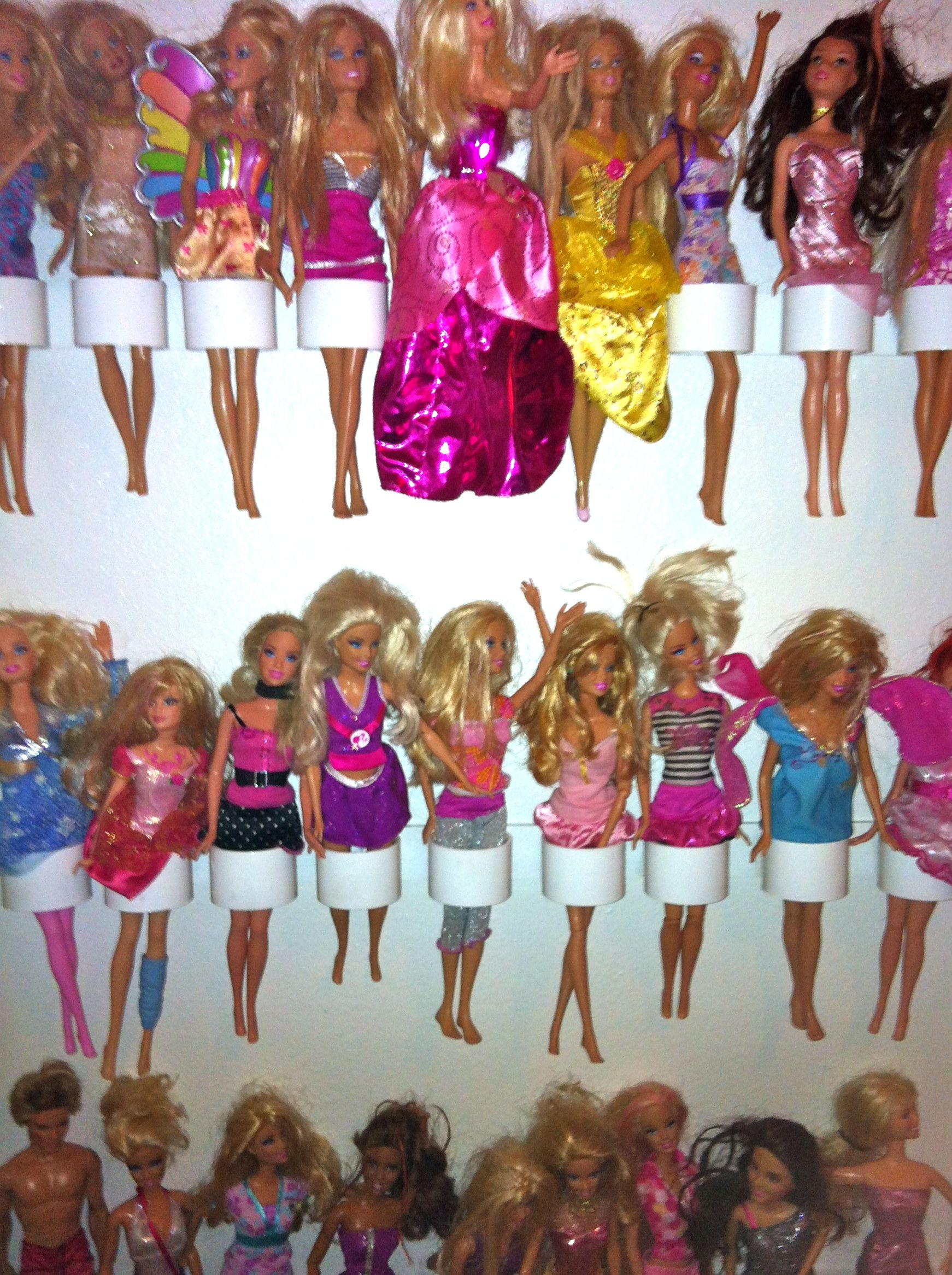 Barbie Doll And Action Figure Storage Easy DIY Fits Behind The - Barbie doll storage ideas
