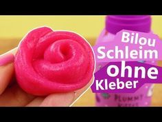 bilou slime ohne kleber pinken schleim selber machen super einfach mit bilou plummy kiss. Black Bedroom Furniture Sets. Home Design Ideas