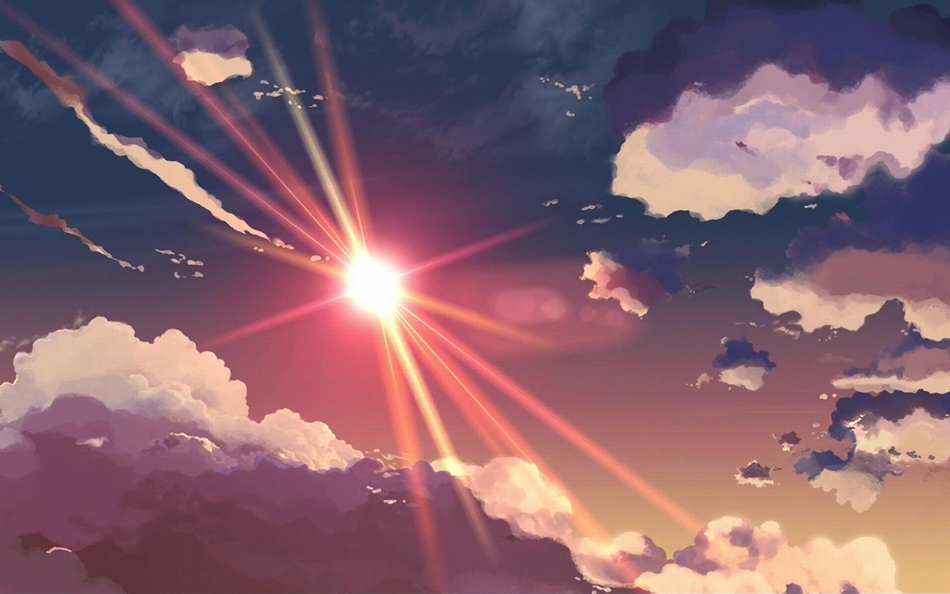 Anime Sunshine wallpaper Anime scenery wallpaper, Anime