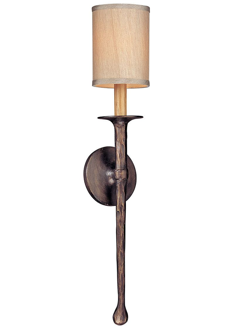 Faulkner Small 1 Light Wall Sconce In Bronze Wall Lights