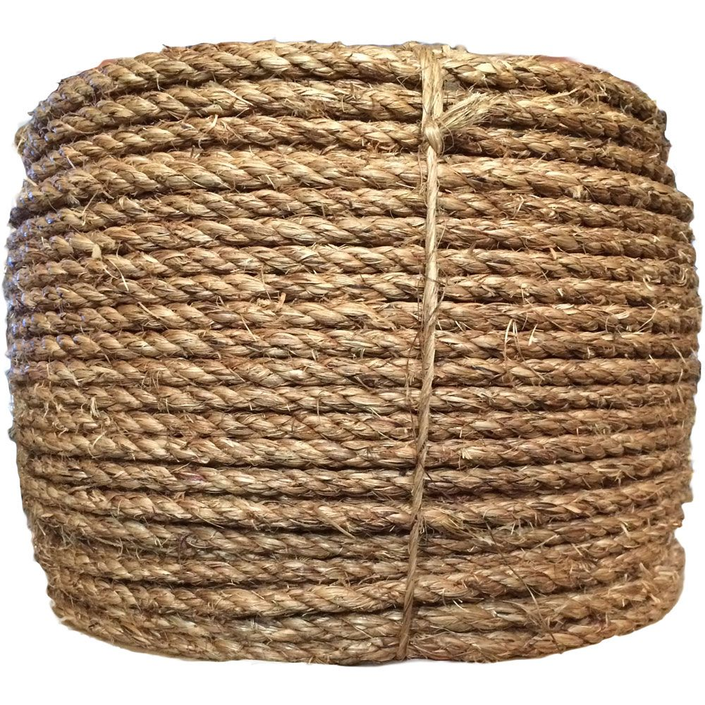 1 4 X 600 Coil 3 Strand Manila Rope Manila Rope How To Make Rope Rug Making