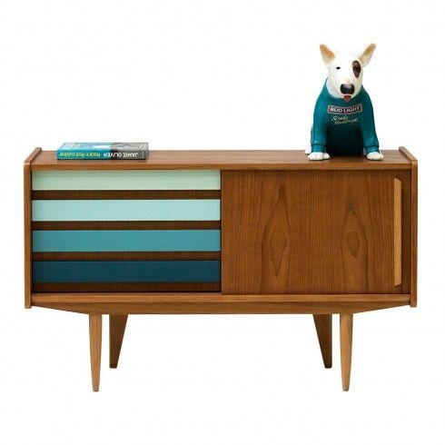 enfilade buffet bas meuble tv vintage annees 50 années 60 dóterí