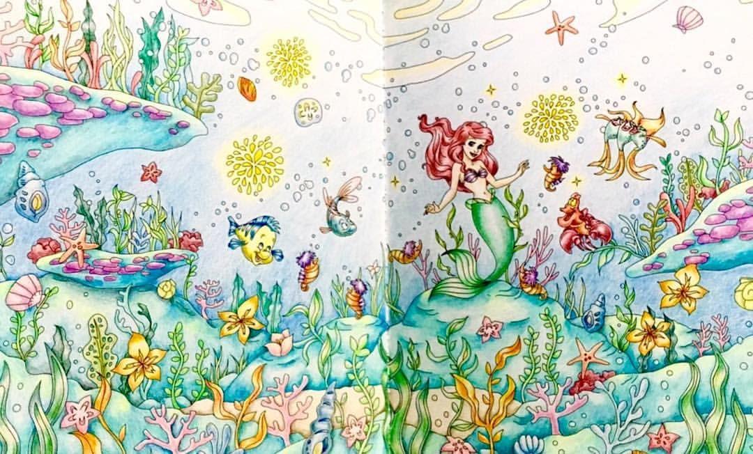 旅するディズニー塗り絵 アリエル コロリアージュ Coloriage