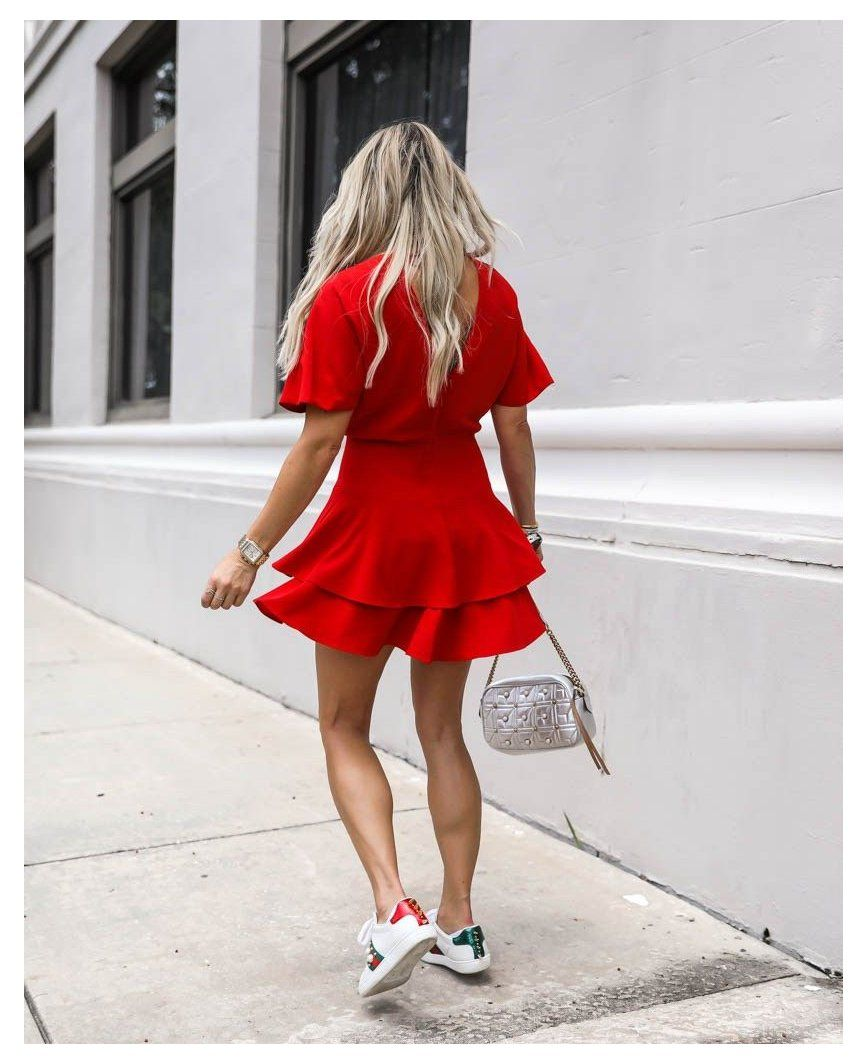 Christian Blair Vordy Gucci Ace Sneakers Outfit Summer Gucciacesneakersoutfitsummer Wh In 2021 Dress And Sneakers Outfit Gucci Ace Sneakers Sneaker Outfits Women [ 1064 x 867 Pixel ]