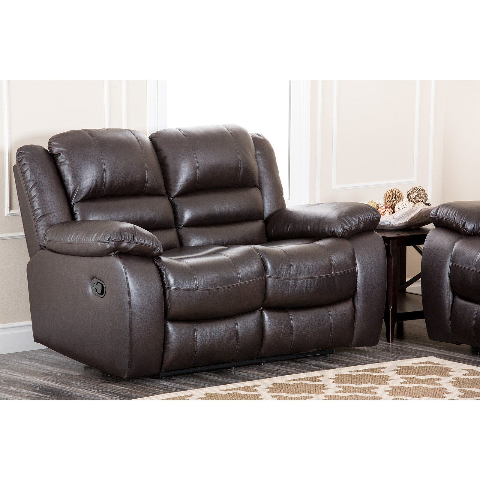Abbyson Anderson Leather Reclining Loveseat CH8801BRN