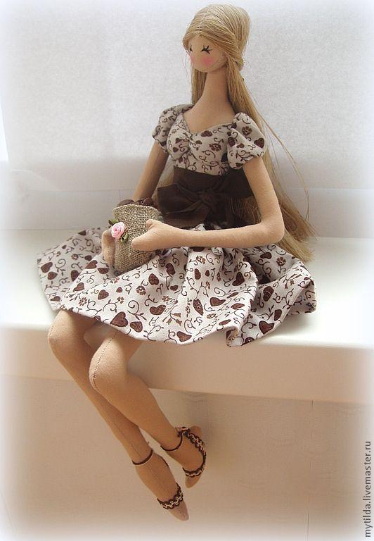 Купить Кофейная кукла 2 - бежевый, украшение интерьера, Кафе, интерьер кухни, подарок подруге