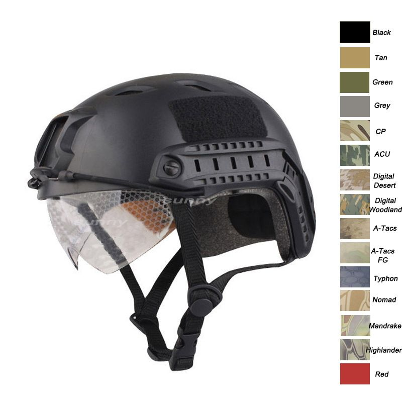 Tactical BJ helmet, fast helmet Camouflage helmet, airsoft helmet, paintball helmet, airsoft gear, helmet with goggles-Product Center-Sunnysoutdoor Co., LTD-