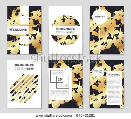 Abstract vector layout background set For art template design, list - Sign Sheet Template