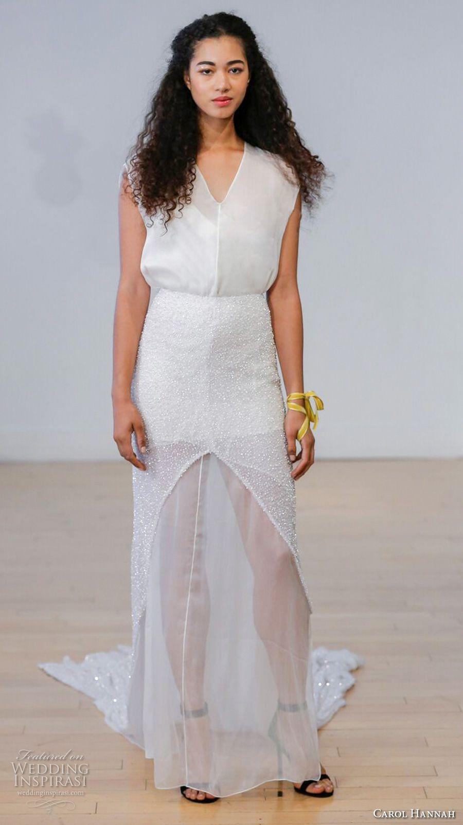 Simple modern wedding dress  Carol Hannah  Wedding Dresses u ucBotanicaud Bridal Collection