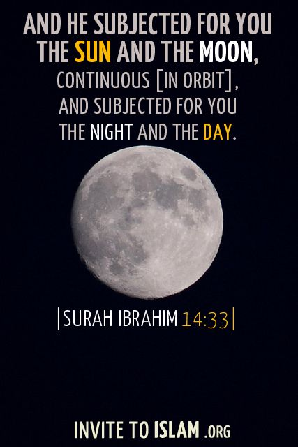 Invitetoislam And He Subjected For You The Sun And The Moon