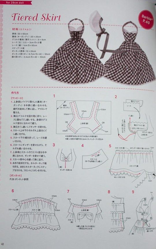 Free Pattern - (need to find exact page). | BARBIE ROPA Y ACCESORIOS ...