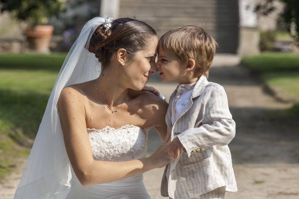 Giorgia #brideNicole e il suo ometto Marco, che ha reso ancora più speciale il giorno più importante!