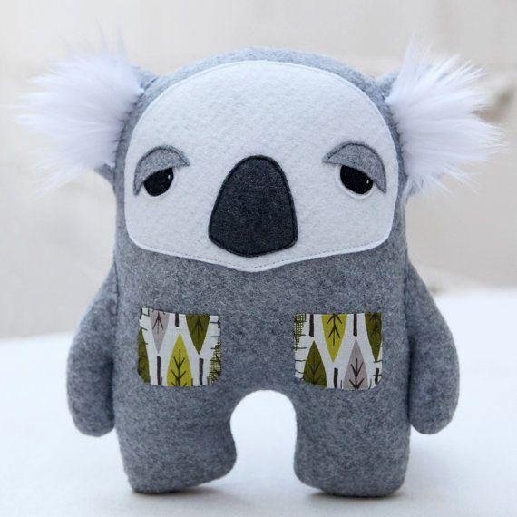 Edgar the koala | Australien | Pinterest | Nähen, Stofftiere und ...