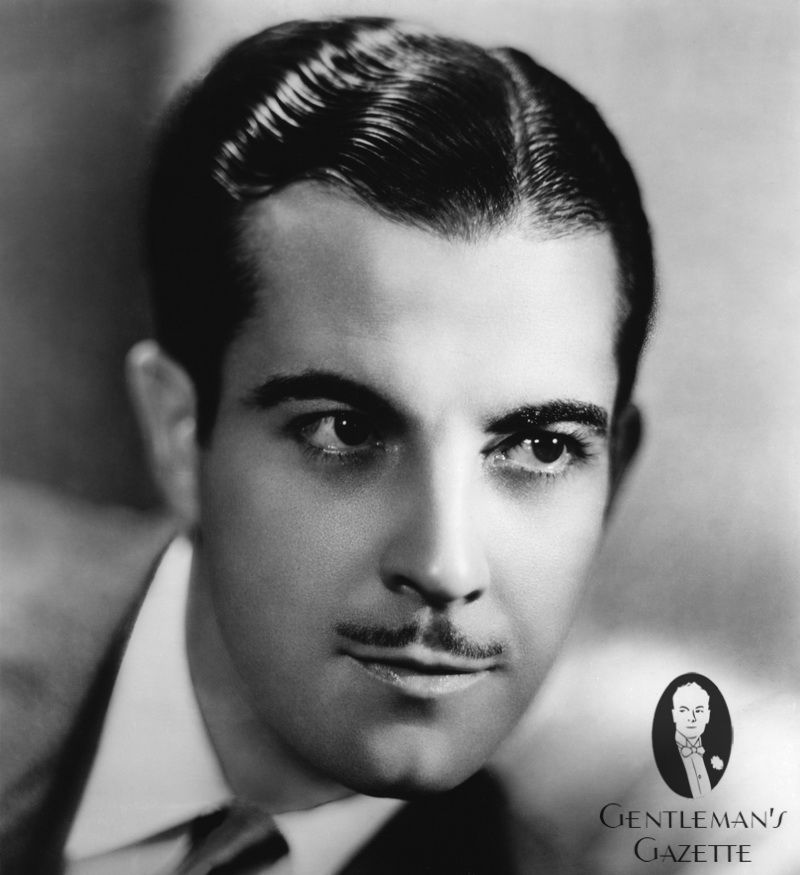 Pencil Mustache With A Nice Parted Hair Style 1950s Fashion And