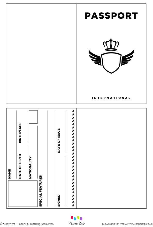 Pin By Crafty Annabelle On Aviator Airplane Printables Passport