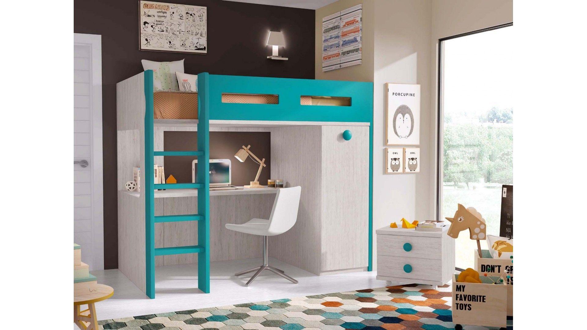 lit mezzanine avec bureau personnalisable f207 glicerio kids bedroom romantic bedroom