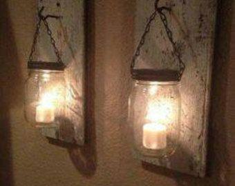Wide Mouth Silver DIY Lantern Lids Mason Jar by WaverlyHomeDesigns