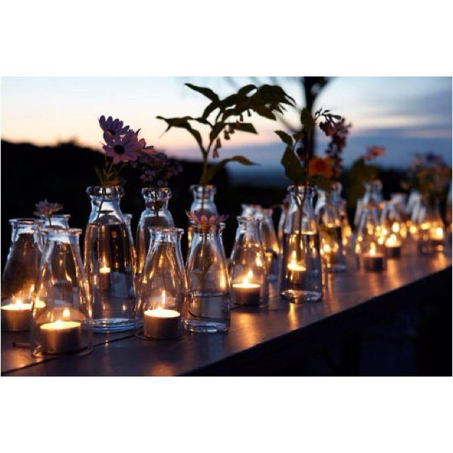 Vintage Milk Bottles As Candles
