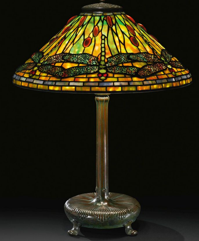 Fine Tiffany Studios Dragonfly Table Lamp, Sothebyu0027s Lot #28 Sold For  $98,500 As Of