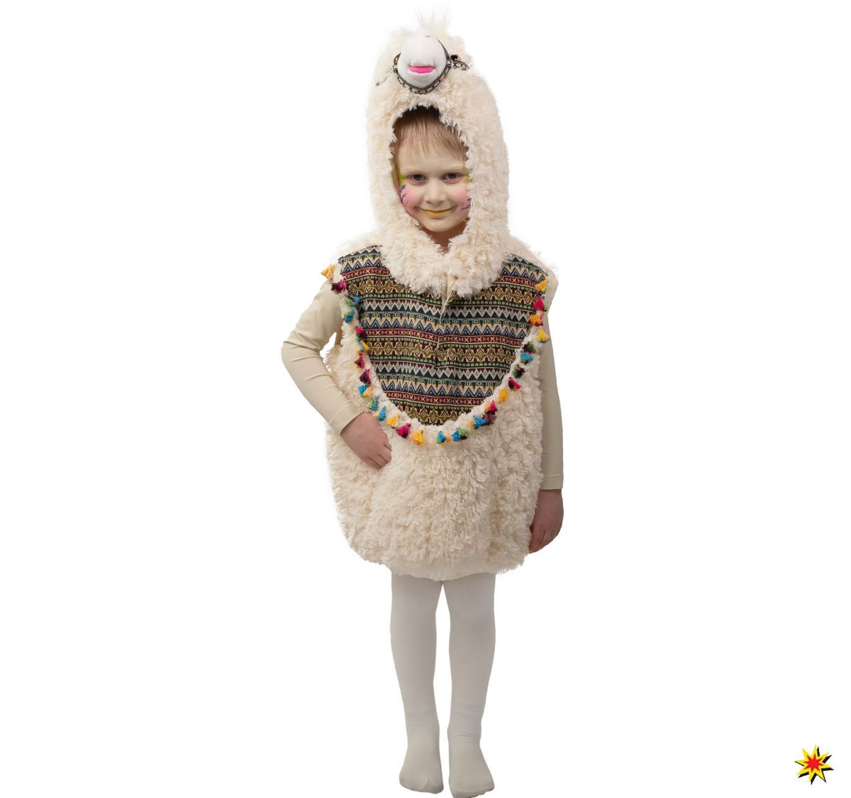 Kinder Kostum Lama Alpaka Lavette Kinder Kostum Lama Alpaka