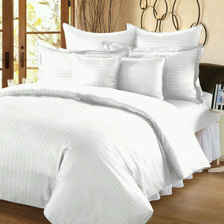 Satin Stripes Cotton Bed Sheet Suppliers In India White Bed Sheets Bed Sheets King Size Comforters