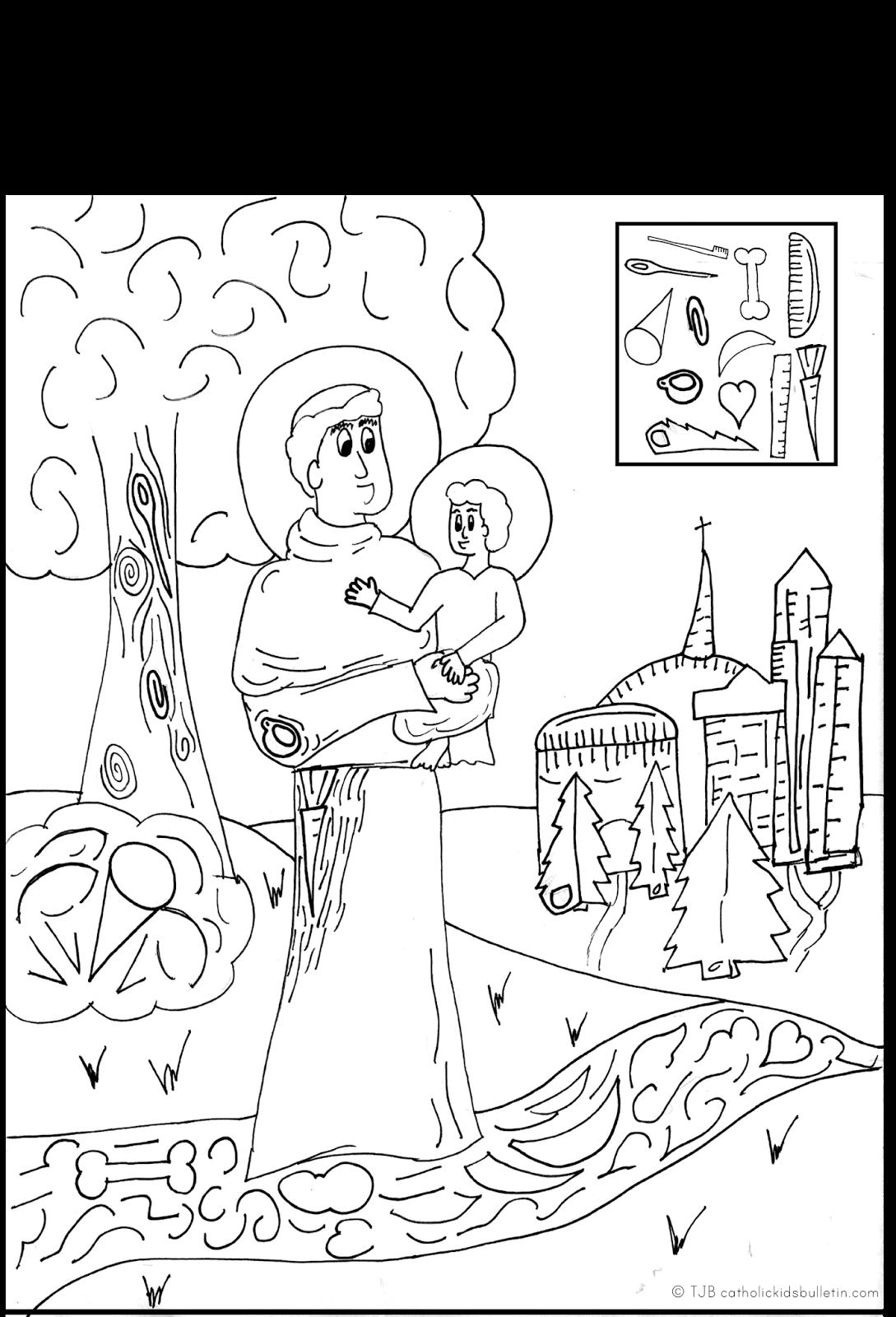 St Anthony Coloring Pages Saint Anthony Of Padua Catholic Kids Catholic Teaching Ideas