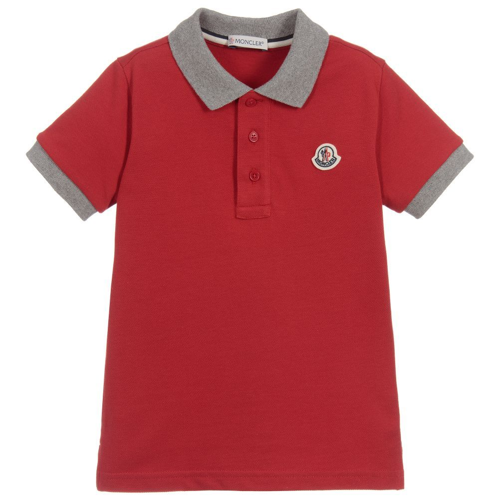 08288be1e Red Cotton Piqué Polo Shirt | LC Boys Clothing and Gifts | Red polo ...