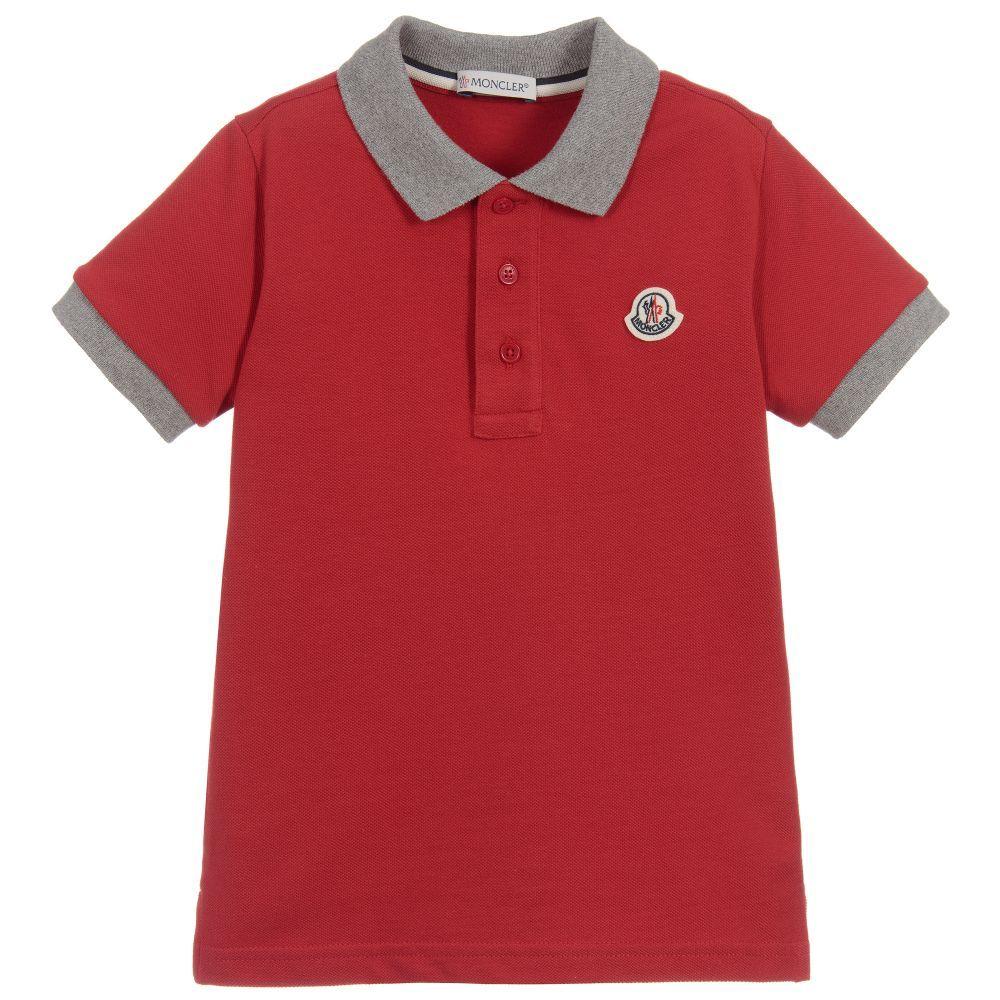 0423e8e58b9b Moncler - Red Cotton Piqué Polo Shirt