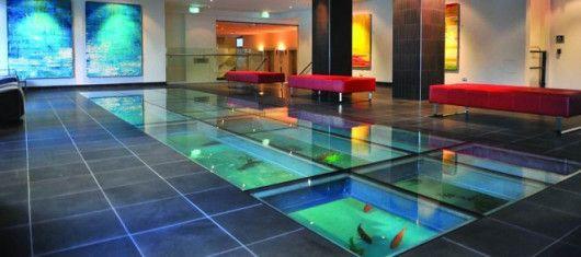 Floor Aquarium Glass Floor Flooring Wall Decor Living Room