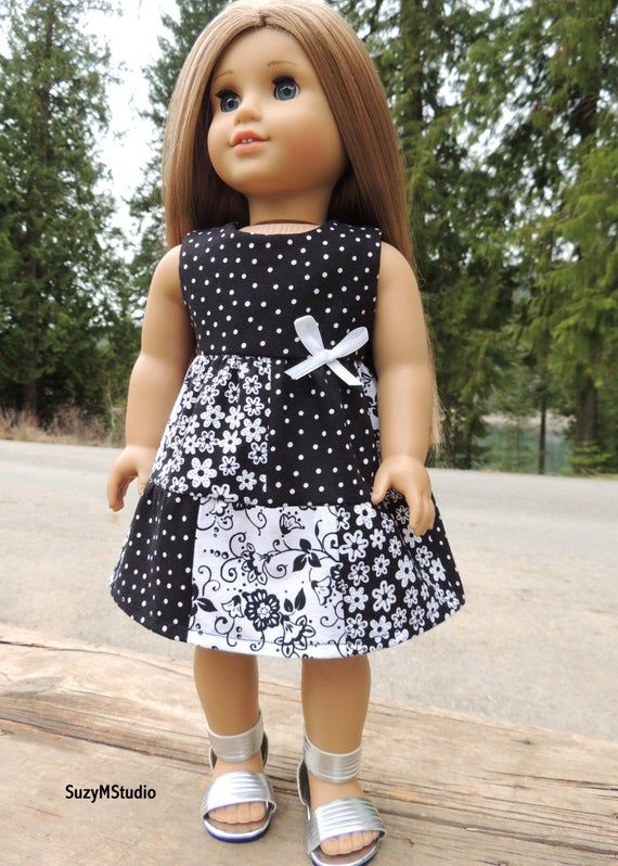 Spring Patchwork Dress and Top - Sewing Pattern for 18 inch dolls