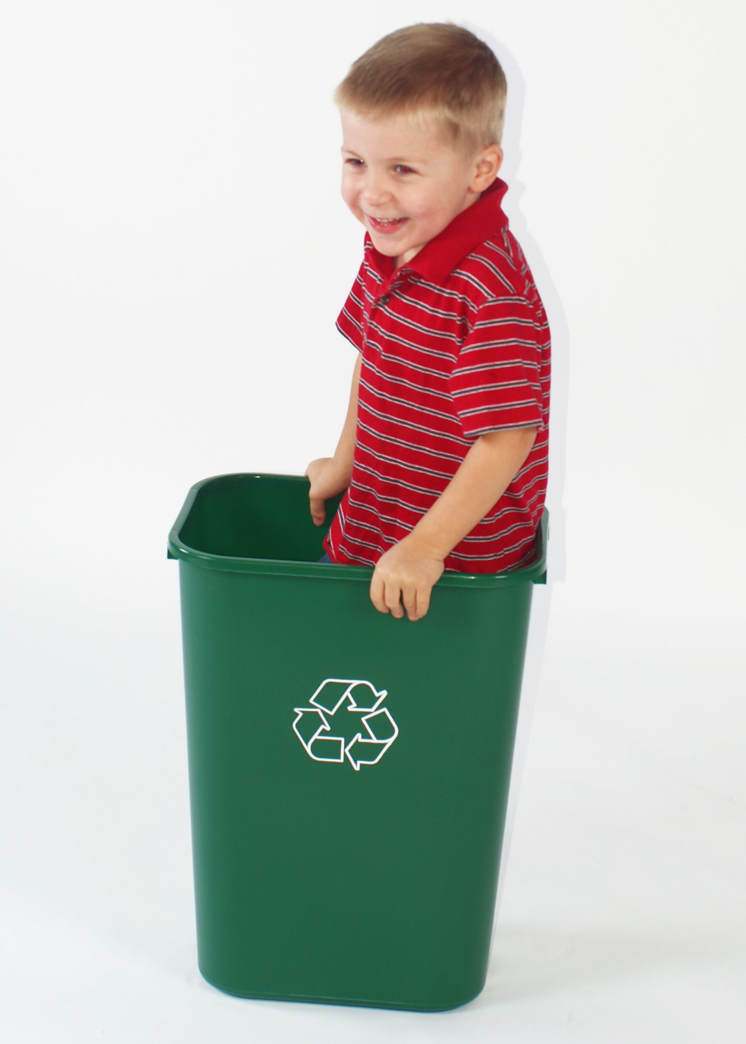 Playing With A Green Recycling Container This Looks Like