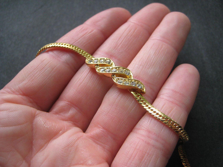 Vintage 80\'s Avon // Rhinestone Wave Bracelet. $8.00, via Etsy ...