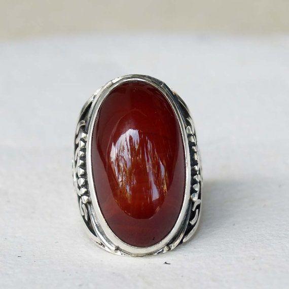 Gemstone grand anneau BohoRing Tribal bague en par mysticalCharm3