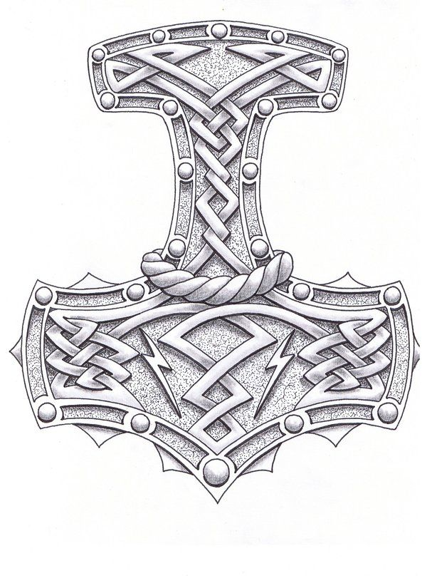 Mjolnir the Hammer of Thor Tatoo design  | Norse | Thor tattoo, Thor