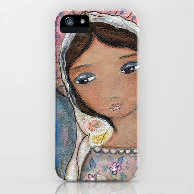 Watching Over You Angel by Flor Larios iPhone & iPod Case by Flor Larios Art - $35.00
