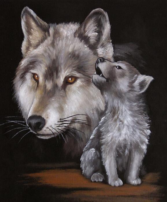 изумруды тату волка и волчат картинки пещера