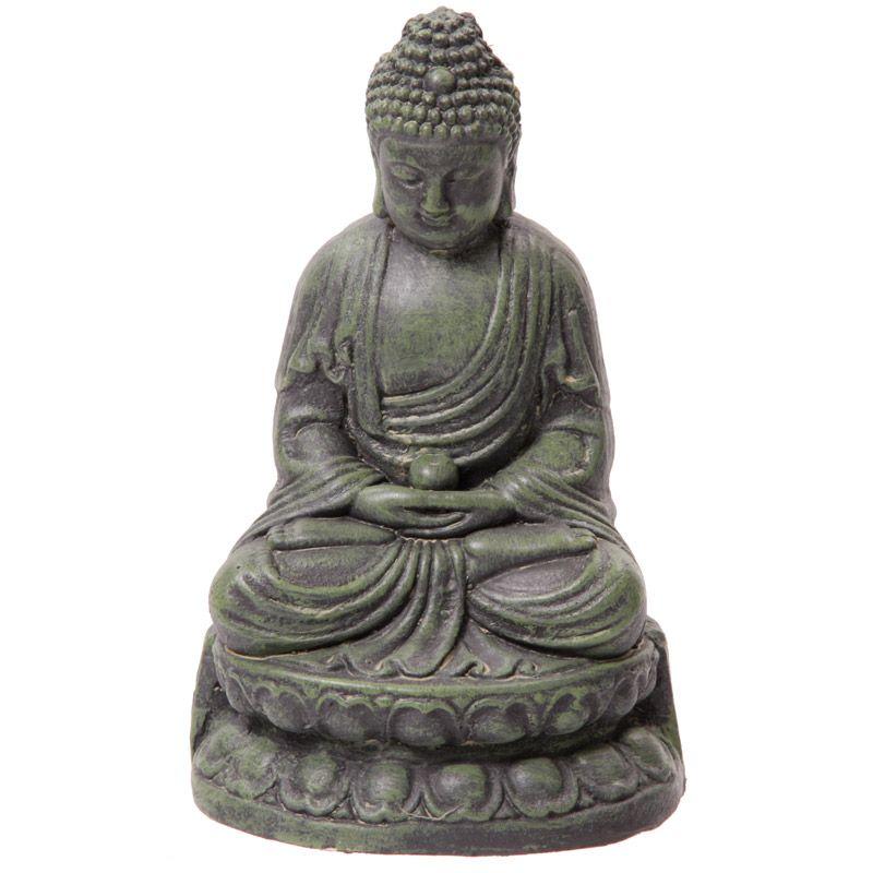 Large Garden Ornament Green Meditating Buddha 21Cm Add 640 x 480