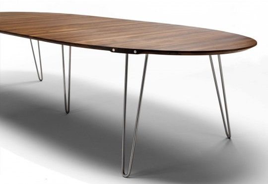 Table De Reunion Zen Ovale Allongeable Chêne Ou Frêne 10 P à