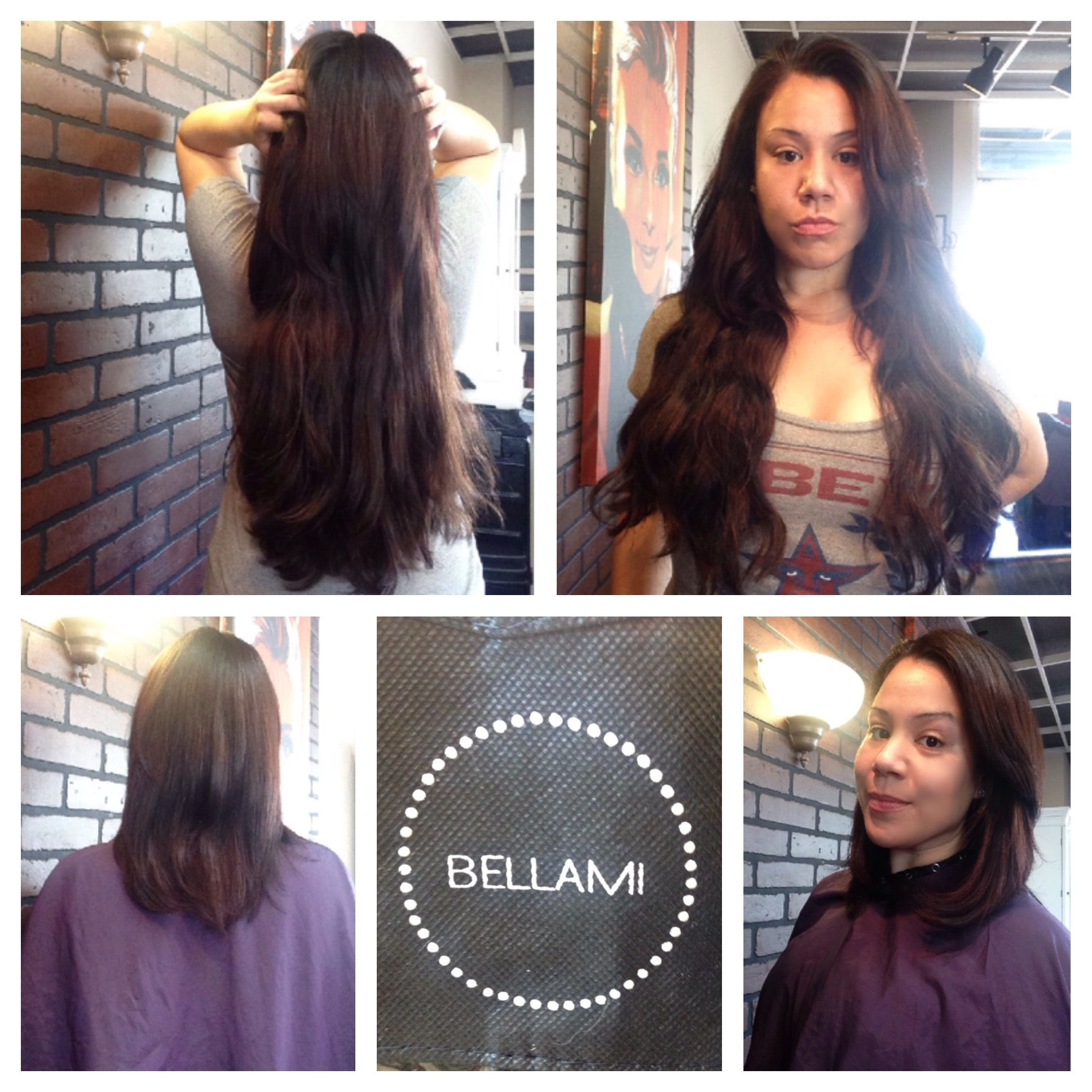Clip in Bellami hair extensions Custom cut and colored by Veronica ... f1574503b8