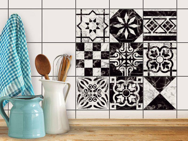 Hochwertige Fliesenaufkleber Set Mit Design Marmor Muster | #fliesenstickeru2026