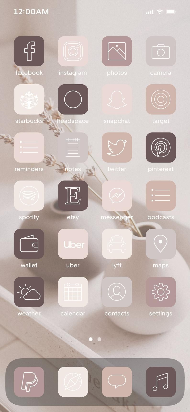 Neutral Boho Iphone Ios14 App Icons 50 Different Icons In Etsy In 2020 App Icon Iphone Life Hacks Iphone
