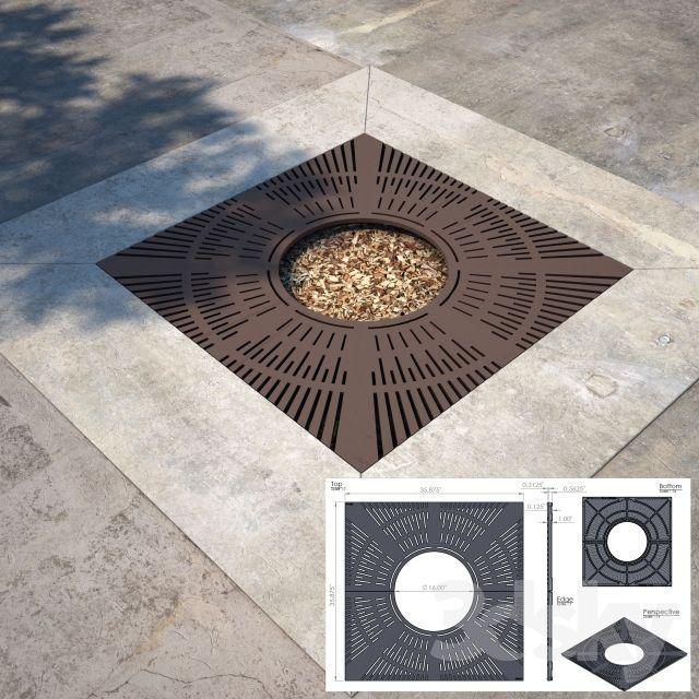 Square Tree Grate Sonoma