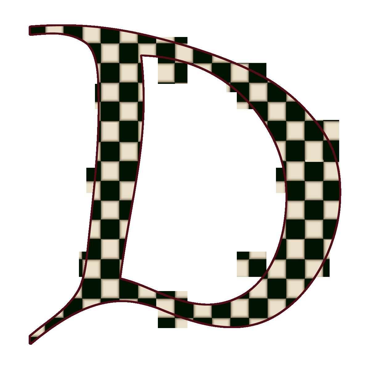 How to scrapbook letters -  Black Checks Free Digital Scrapbook Alphabet Single Letters