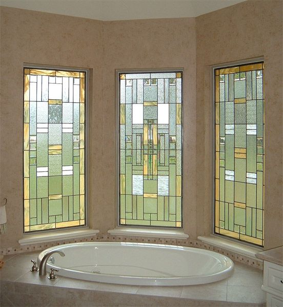 Stained Gl Gold White Windows