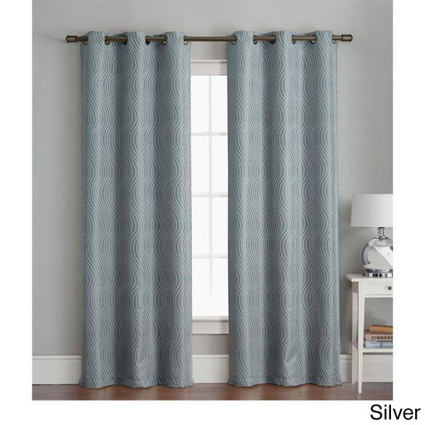 Grommet 84 inch Textured Curtain Panel Pair - Overstock™ Shopping - Great Deals on Victoria Classics Curtains